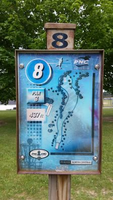 Purdue North Central, Main course, Hole 8 Hole sign