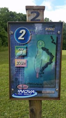 Purdue North Central, Main course, Hole 2 Hole sign
