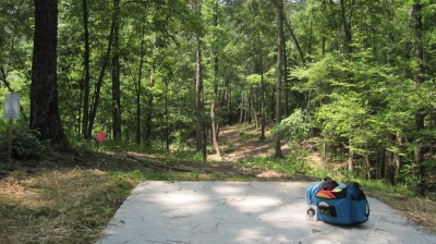 Inverness Disc Golf Park, Main course, Hole 10 Long tee pad