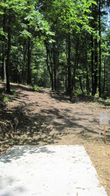 Inverness Disc Golf Park, Main course, Hole 12 Long tee pad