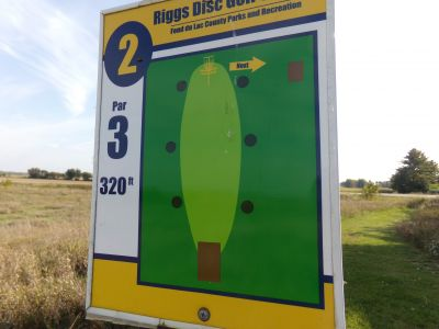 Riggs Park, Main course, Hole 2 Hole sign