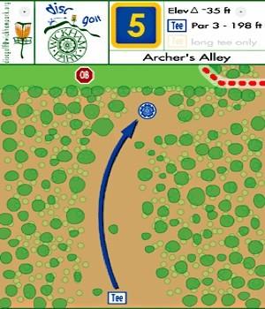 Wickham Park, Main course, Hole 5 Hole sign