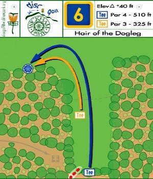 Wickham Park, Main course, Hole 6 Hole sign