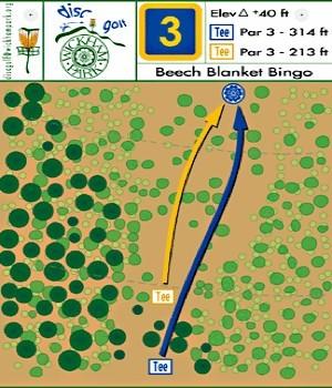 Wickham Park, Main course, Hole 3 Hole sign