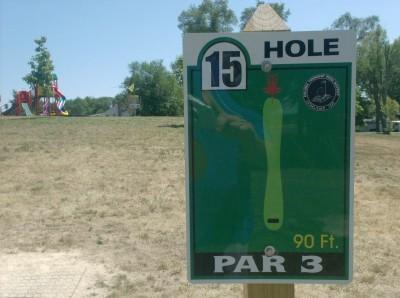 Joshua Park, Main course, Hole 15 Hole sign