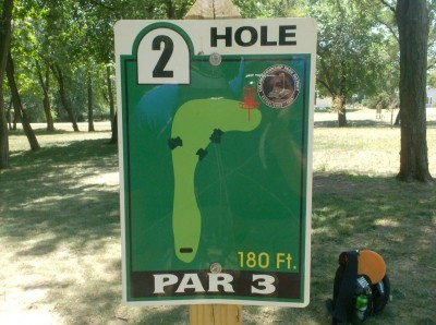 Joshua Park, Main course, Hole 2 Hole sign