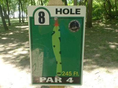 Joshua Park, Main course, Hole 8 Hole sign