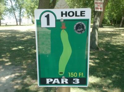 Joshua Park, Main course, Hole 1 Hole sign
