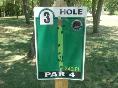 Joshua Park, Main course, Hole 3 Hole sign
