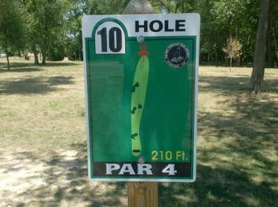 Joshua Park, Main course, Hole 10 Hole sign
