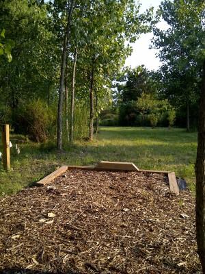 Ira Township Park, Ira Township DGC, Hole 1 Short tee pad