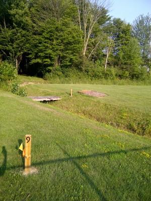 Ira Township Park, Ira Township DGC, Hole 9 Long tee pad