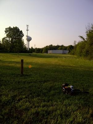 Ira Township Park, Ira Township DGC, Hole 6 Long tee pad