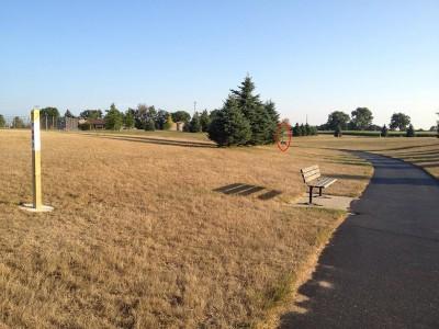 Salem Township Park, Main course, Hole 7 Tee pad