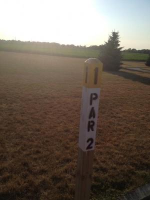 Salem Township Park, Main course, Hole 1 Hole sign