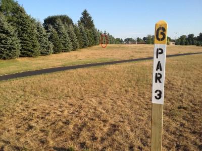 Salem Township Park, Main course, Hole 6 Tee pad