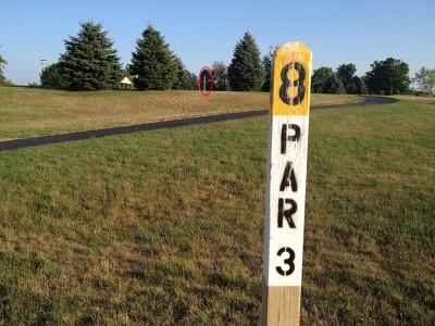 Salem Township Park, Main course, Hole 8 Tee pad