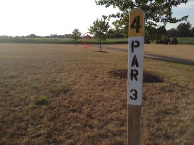Salem Township Park, Main course, Hole 4 Tee pad