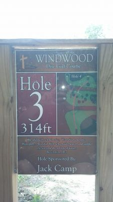 Windwood Presbyterian DGC, Main course, Hole 3 Hole sign