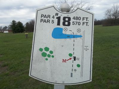 Graham Memorial Park, Main course, Hole 18 Hole sign