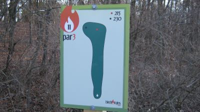 Charles Langer Park, Main course, Hole 11 Hole sign