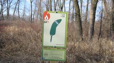 Charles Langer Park, Main course, Hole 4 Hole sign