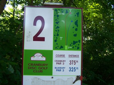 Cranbury Park, Main course, Hole 2 Hole sign