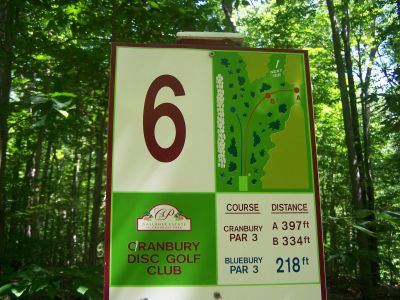 Cranbury Park, Main course, Hole 6 Hole sign