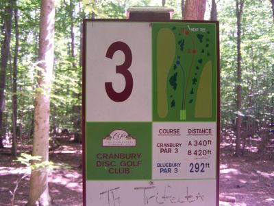 Cranbury Park, Main course, Hole 3 Hole sign