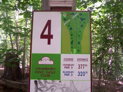Cranbury Park, Main course, Hole 4 Hole sign
