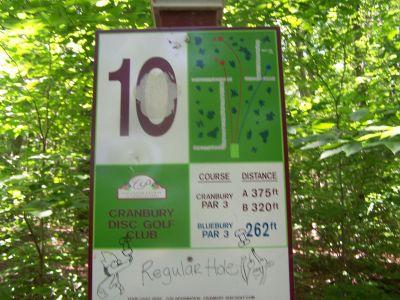 Cranbury Park, Main course, Hole 10 Hole sign