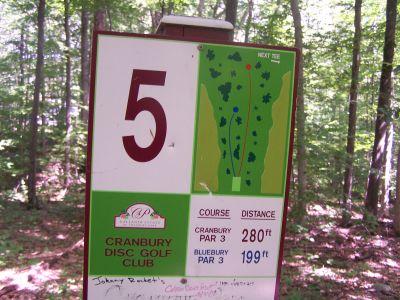 Cranbury Park, Main course, Hole 5 Hole sign