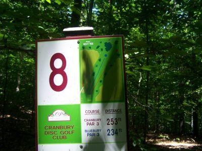 Cranbury Park, Main course, Hole 8 Hole sign