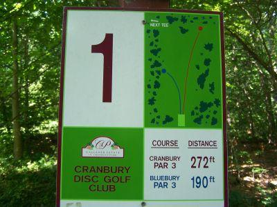 Cranbury Park, Main course, Hole 1 Hole sign