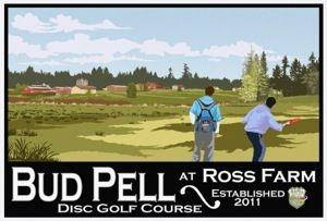 Ross Farm, Bud Pell DGC, Hole 1 Reverse (back up the fairway)