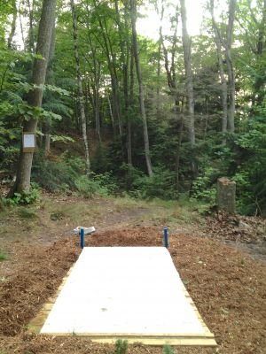 Mt. McSauba Recreation Area, Main course, Hole 2 Tee pad