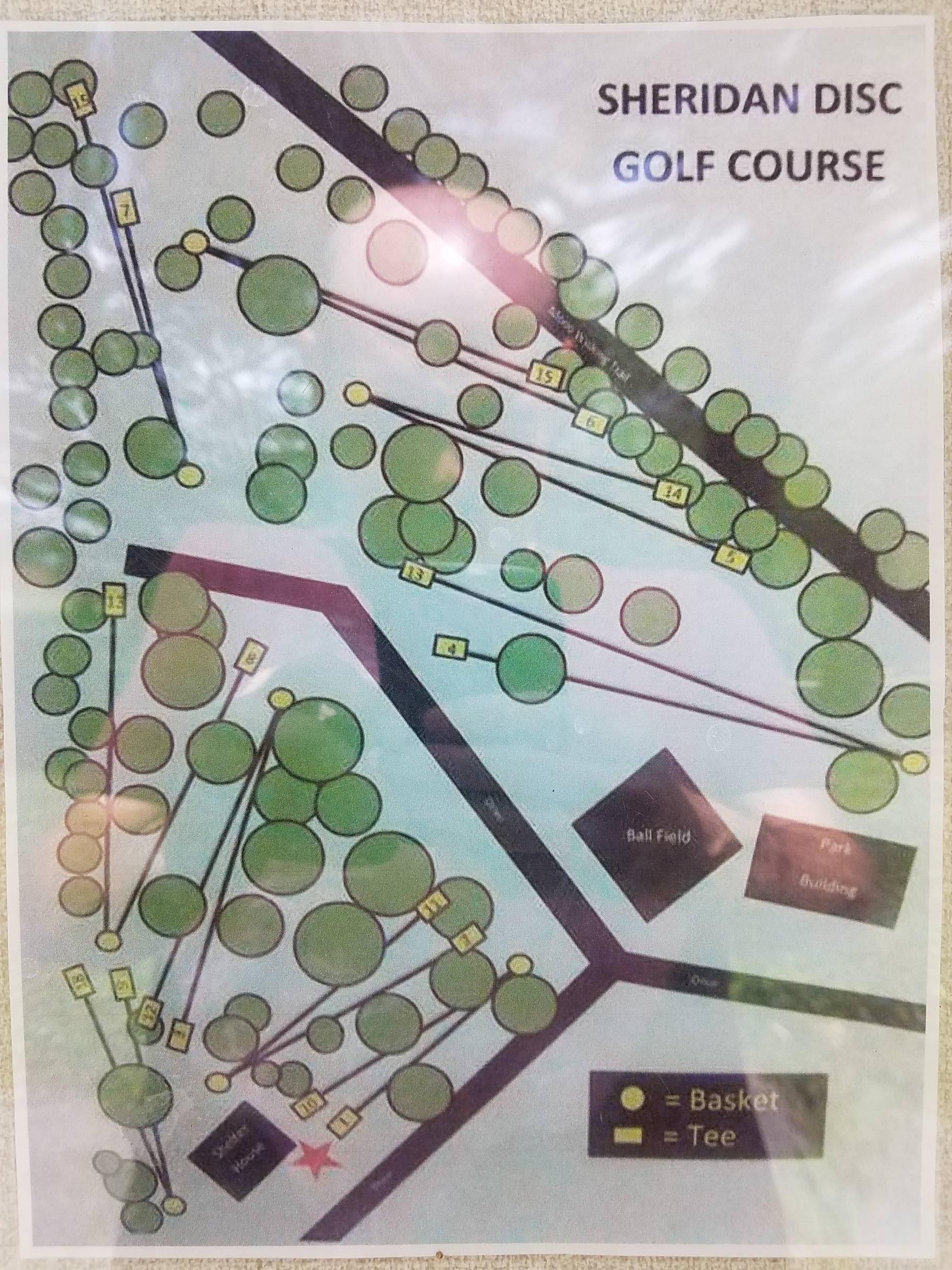 Hole 1 Biddle Park Sheridan In Disc Golf Courses Disc Golf Scene
