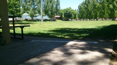 Cache County Fairgrounds, Main course, Hole 18 Tee pad