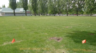 Cache County Fairgrounds, Main course, Hole 7 Tee pad