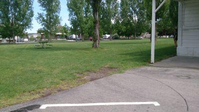 Cache County Fairgrounds, Main course, Hole 8 Tee pad