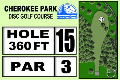Cherokee Park, Main course, Hole 15 Hole sign