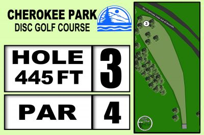 Cherokee Park, Main course, Hole 3 Hole sign