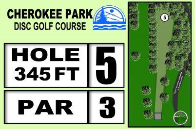 Cherokee Park, Main course, Hole 5 Hole sign