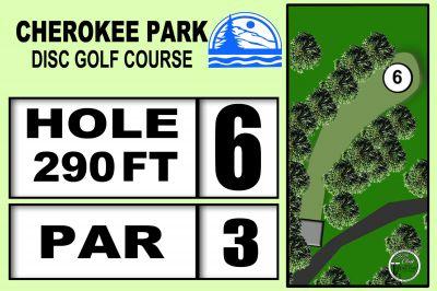 Cherokee Park, Main course, Hole 6 Hole sign