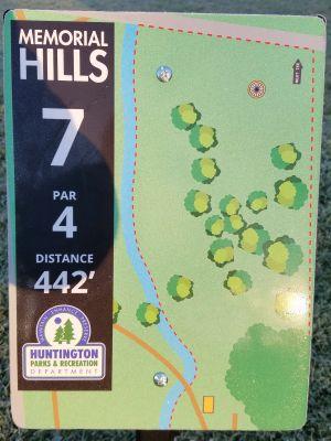 Memorial Hills, Main course, Hole 7 Tee pad