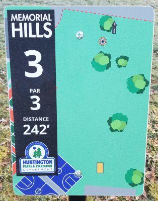 Memorial Hills, Main course, Hole 3 Tee pad