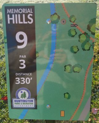 Memorial Hills, Main course, Hole 9 Tee pad