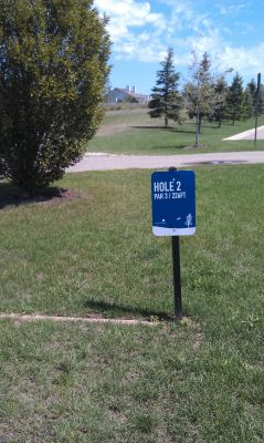NorthRidge Church, Main course, Hole 2 Tee pad
