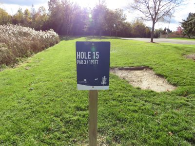 NorthRidge Church, Main course, Hole 15 Hole sign