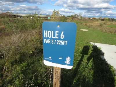 NorthRidge Church, Main course, Hole 6 Hole sign
